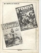Verso de Zombie (France Sud Publications / Bois de Boulogne) -2- Simon Garth seul contre le Testament de Sang