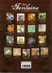 Verso de Poèmes en bandes dessinées -a- Jean de La Fontaine en bandes dessinées