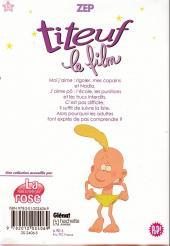 Verso de Titeuf (bibliothèque rose pop!) -15- Le film