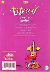 Verso de Titeuf (bibliothèque rose pop!) -4- C'est pô malin...