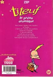 Verso de Titeuf (bibliothèque rose pop!) -8- Le préau atomique