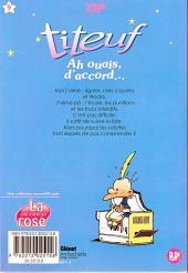 Verso de Titeuf (bibliothèque rose pop!) -9- Ah ouais, d'accord...