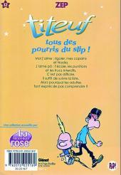 Verso de Titeuf (bibliothèque rose pop!) -12- Tous des pourris du slip !
