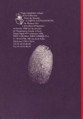 Verso de La bête à cinq doigts - Tome 25