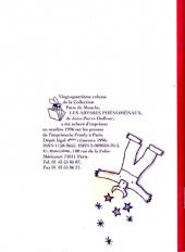 Verso de Les abysses phénoménaux - Tome 24