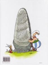Verso de Astérix (en langues étrangères) -28Arabe- أستريكس والسجاد العجيب - Astérix chez Rahàzade