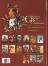Verso de La geste des Chevaliers Dragons -14- La Première