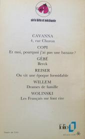Verso de Le grand Duduche -1002- l'ennemi interieur