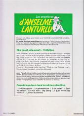 Verso de Anselme Lanturlu (Les aventures d') -9- Elle court, elle court...l'inflation