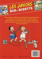 Verso de Bob et Bobette (Les Juniors) -3- Grosses frayeurs
