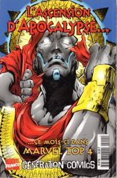 Verso de X-Men (Marvel France 1re série - 1997) -10- Opération Tolérance Zéro