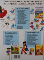 Verso de Les schtroumpfs -17b2002- le schtroumpfeur de bijoux