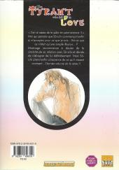 Verso de Tyrant who fall in love (The) -8- Tome 8