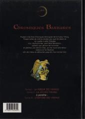 Verso de Chroniques Barbares -2- La loi des Vikings