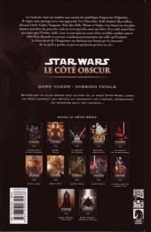 Verso de Star Wars - Le côté obscur -12- Dark Vador - Mission fatale