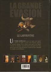 Verso de La grande évasion -2- Le Labyrinthe