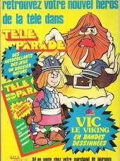 Verso de Télé parade -Rec03- Album N°3 (du n°9 au n°12)