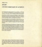 Verso de Astérix (Autres) - Astérix - L'Épopée burlesque de la France