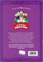 Verso de La dynastie Donald Duck - Intégrale Carl Barks -9- Le Trésor du Hollandais volant et autres histoires (1958-1959)