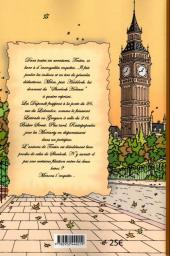 Verso de (AUT) Hergé -111a05- Tintin à Baker Street