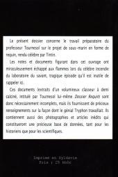 Verso de (AUT) Hergé -115- Les Archives du professeur Tournesol - Dossier requin - Top Secret
