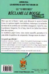 Verso de Les aventures de Saint-Tin et son ami Lou -10- Le