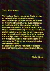 Verso de Tintin - Divers - Tintin & les avions