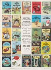 Verso de Tintin (Historique) -15C1bis- Tintin au pays de l'or noir
