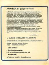 Verso de Jonathan -1- Souviens-toi, Jonathan...