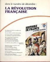 Verso de Histoire de France en bandes dessinées -14- Louis XV, l'Indépendance américaine