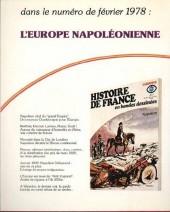 Verso de Histoire de France en bandes dessinées -16- Une première république, Bonaparte