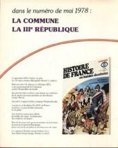 Verso de Histoire de France en bandes dessinées -19- La Révolution de 1848, le second empire