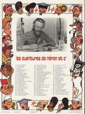 Verso de Néron et Cie (Les Aventures de) (Érasme) -89- L'ordre de la belette replète