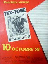 Verso de Tex-Tone -208- Retour au passé