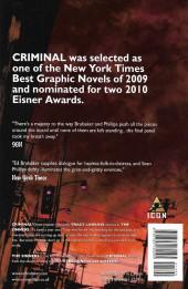 Verso de Criminal: The Sinners (2009) -INT05- The Sinners