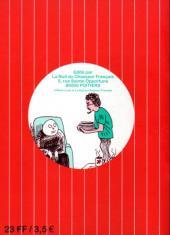 Verso de Tintin - Pastiches, parodies & pirates -RL1- Les aventures de Tintin et moi