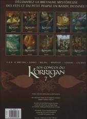 Verso de Les contes du Korrigan -7a- Livre septième : L'assemblée des bardes