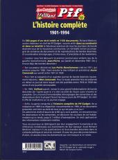 Verso de Mon Camarade, Vaillant, Pif Gadget - L'histoire complète 1901-1994