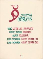 Verso de Carnet de bord -2- 22-28 janvier 2002 - 17-27 février 2002