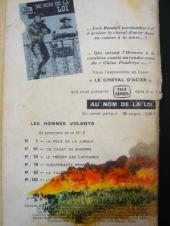 Verso de Télé série bleue (Les hommes volants, Destination Danger, etc.) -3- Les hommes volants - La folie de la jungle