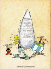 Verso de Astérix -25Pub- Le Grand Fossé