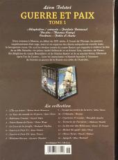 Verso de Les indispensables de la Littérature en BD -6- Guerre et Paix - Tome1
