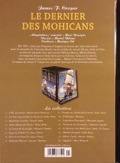 Verso de Les indispensables de la Littérature en BD -13- Le Dernier des Mohicans