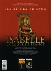 Verso de Les reines de sang - Isabelle, la Louve de France -1- Isabelle La Louve de France - Volume 1/2