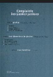 Verso de Complainte des Landes perdues -1c2012- Sioban