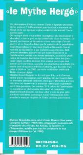 Verso de (AUT) Hergé -175- Le mythe Hergé