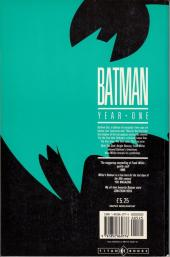 Verso de Batman Vol.1 (DC Comics - 1940) -INT''- Year One