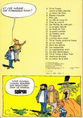 Verso de Tif et Tondu -22a1979- Un plan démoniaque