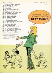 Verso de Tif et Tondu -18a78- Le roc maudit