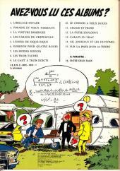 Verso de Gil Jourdan -15a79- Sur la piste d'un 33 tours